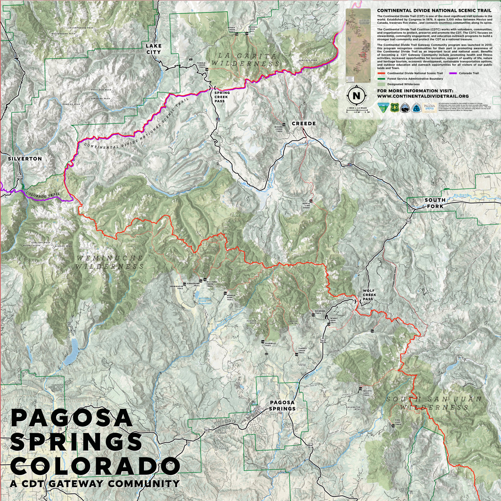 Pagosa Springs Continental Divide Trail Coalition - Interactive map of the continental divide in the us