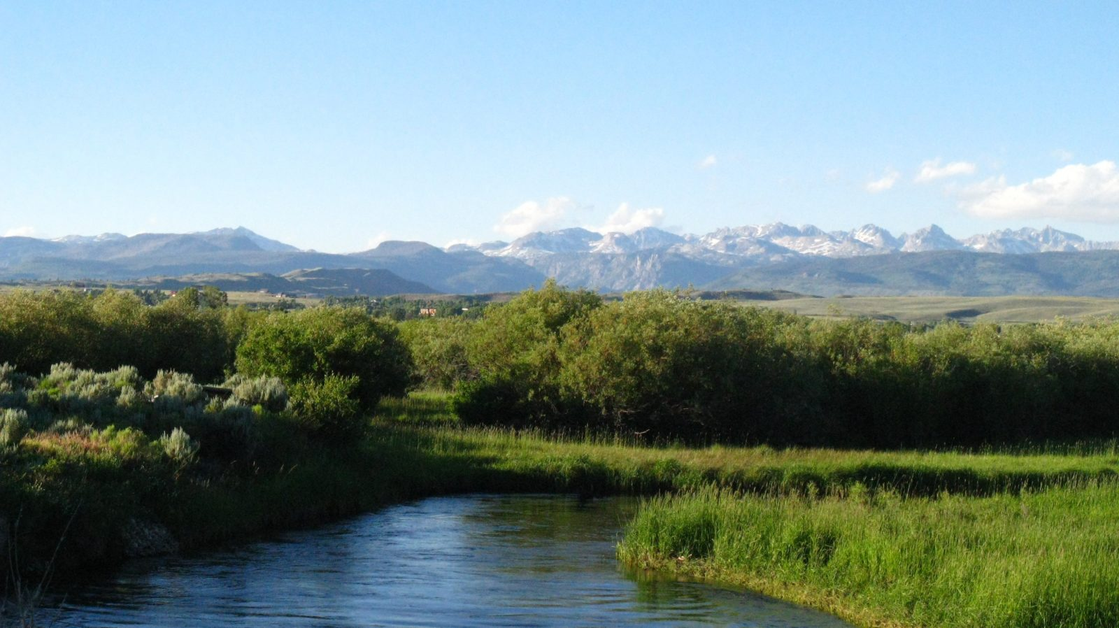 Pine Creek flows through Pinedale