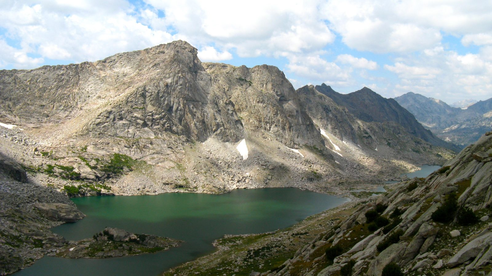 An alpine lake in the Bridger Wilderness
