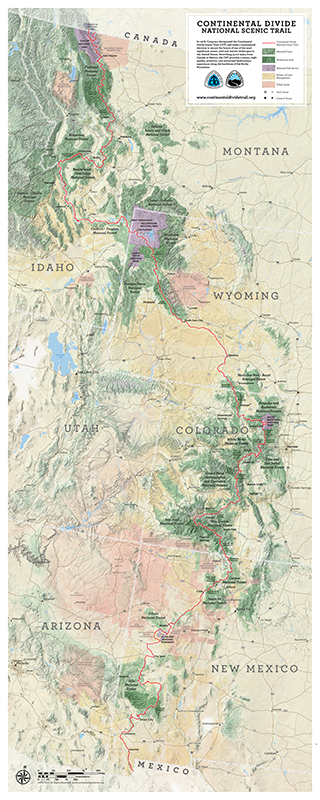 CDT Poster Map Continental Divide Trail Coalition - Cdt trail map