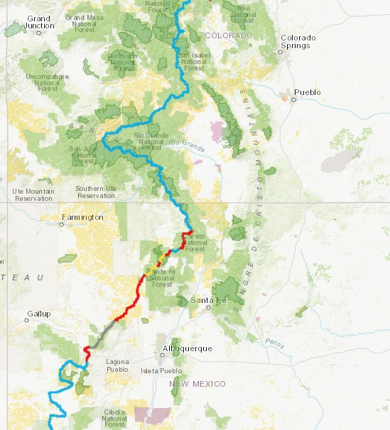 Blaze The CDT Continental Divide Trail Coalition - Cdt trail map