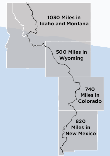 Cdt Colorado Map.General Cdt Trip Planning Continental Divide Trail Coalition